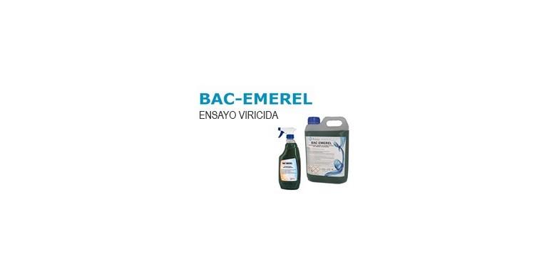 BAC EMEREL: Certificado ensayo Viricida
